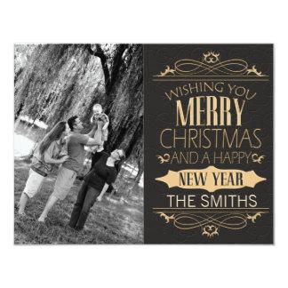 Elegant and Seasonal Merry Christmas for Photos Card