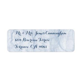 Elegant and stylish blue script address labels