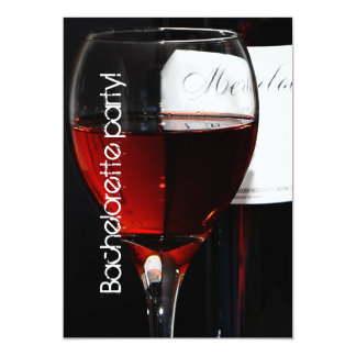 elegant and whimsical wine glass bachelorette card