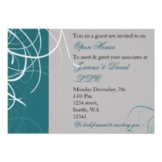 elegant aqua Corporate party Invitation