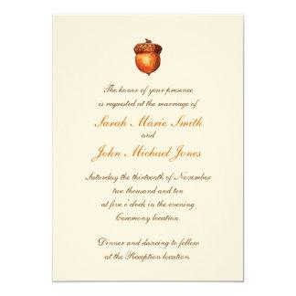 Elegant Autumnal Acorn Invitation