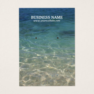 Elegant Beach Earring Holder Business Card