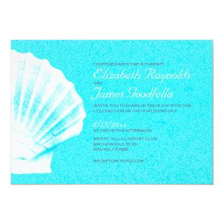 Elegant Beach Seashells Destination Wedding Invite