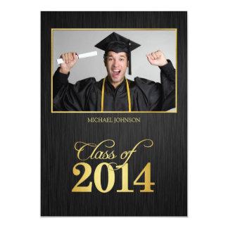 Elegant black and gold Class of 2014 Graduation Card
