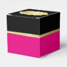 Elegant Black and Hot Pink Favour Box