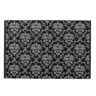 Elegant Black and Silver Damask iPad Air Case
