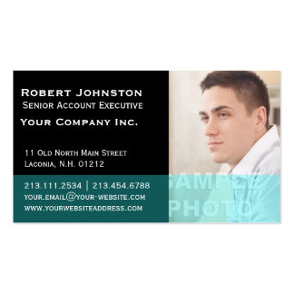 Elegant Black and Teal Corporate Photo Template Business Card
