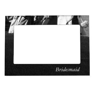 Elegant Black and White Customizable Bridesmaid Magnetic Frames