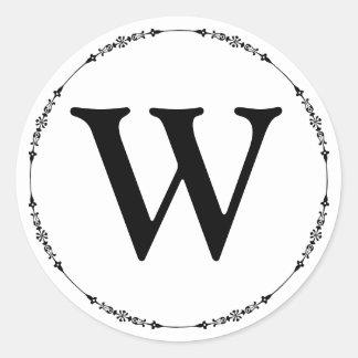 Elegant Black and White Monogram Envelope Seal