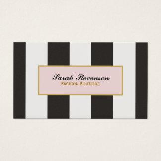 Elegant Black and White Stripes Fashion Boutique