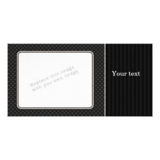Elegant black design personalised photo card
