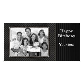 Elegant black design photo greeting card