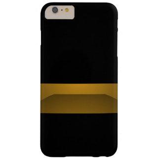 Elegant Black Gold Minimalism Trendy Chic Fashion Barely There iPhone 6 Plus Case