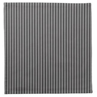 Elegant Black Pinstripe Napkins
