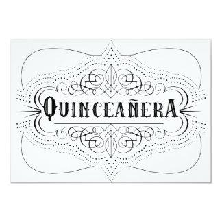 Elegant Black Quinceañera South Western Invitation