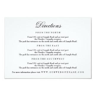Elegant Black & White Enclosure Card