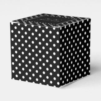 Elegant black & white polkadot wedding favor boxes favour box
