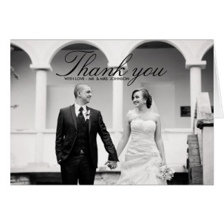 Wedding Thank You greeting cards from Zazzle