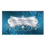 Elegant Blue Damask Swirl Pack Of Standard Business Cards