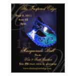 Elegant Blue Masquerade Ball Party Event Flyer