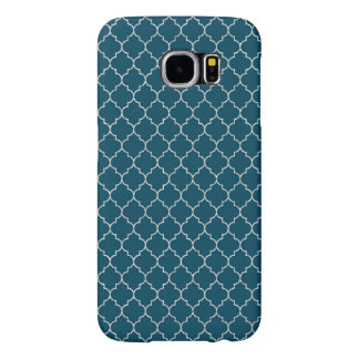 Elegant blue morocco Pattern Samsung Galaxy S6 Cases