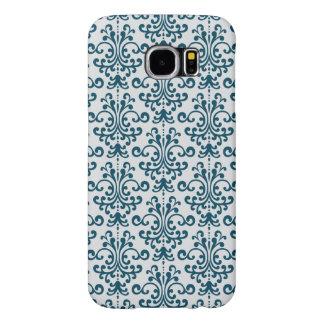 Elegant blue Pattern Samsung Galaxy S6 Cases
