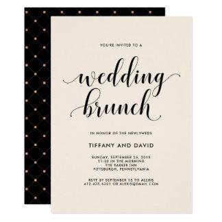 Elegant Blush Post Wedding Brunch Invitation