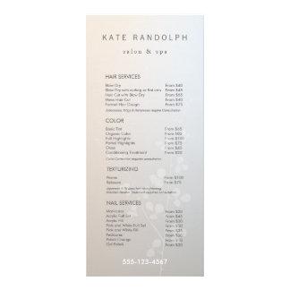 Elegant Branch Salon Price List Service Menu