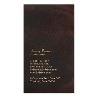 Elegant Brown Leather Look Professional Classic Pack Of Standard Business Cards