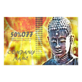 elegant buddha massage SPA modern zen 14 Cm X 21.5 Cm Flyer