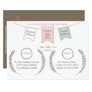 Elegant Bunting - Couple's Wedding Shower Card