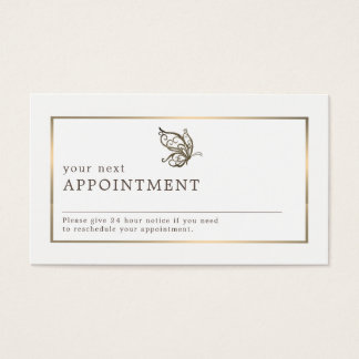 Elegant Butterfly, Appointment Business Card