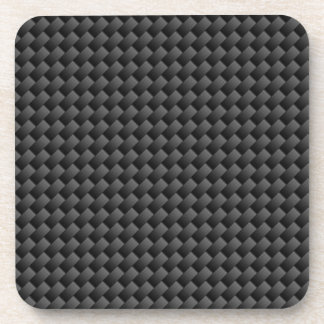 Elegant Carbon Fiber Style Print Decor Coaster