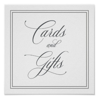 Elegant Cards and Gifts Wedding Sign