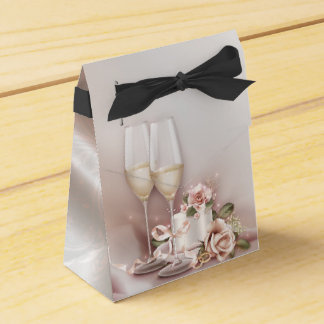 Elegant Champagne Wedding Favour Box
