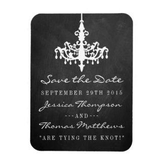 Elegant Chandelier Chalkboard Wedding Collection Rectangular Photo Magnet