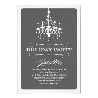 Elegant Chandelier Holiday Party Invitation
