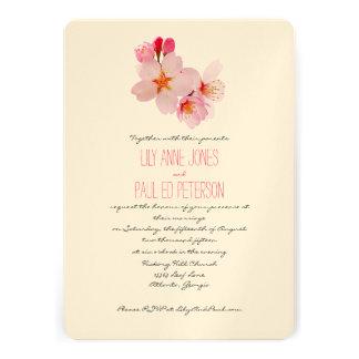Elegant Cherry Blossom Flower Custom Announcement