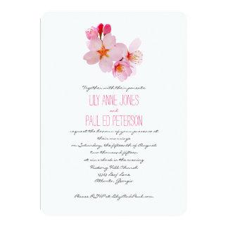 Elegant Cherry Blossom Flower 5x7 Paper Invitation Card