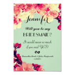 Elegant Cherry Blossoms on Rustic Teal 9 Cm X 13 Cm Invitation Card