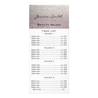Elegant chic modern luxury faux glittery menu card