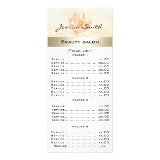 Elegant chic modern luxury rose glittery menu card customised rack card