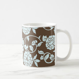 Elegant Chinese Floral Pattern Coffee Mug