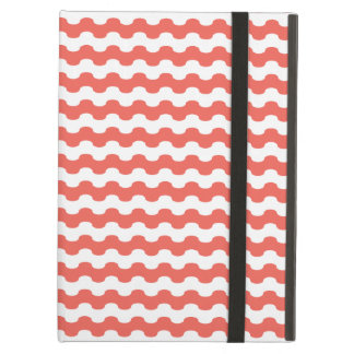 Elegant choral Cover iPad of strips in zigzag