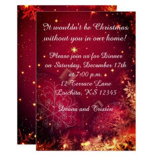 Elegant Christmas Dinner Invitation