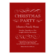 Elegant Christmas Party - Eat Drink and be Merry Invitation