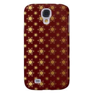 Elegant Christmas Snowflake Gold Foil Pattern Galaxy S4 Case
