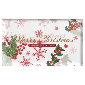 Elegant Christmas Table Card Holder