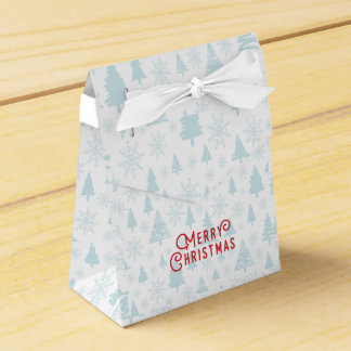 Elegant christmas tree Merry Christmas Favour Box