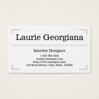 Elegant & Classy Interior Designer Business Card